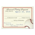 Baseball Field Pass Wedding Response Card 9 Cm X 13 Cm Invitation Card