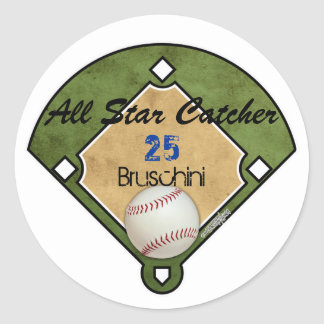 Baseball Field Classic Round Sticker