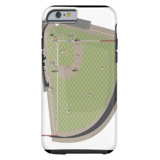 Baseball field tough iPhone 6 case