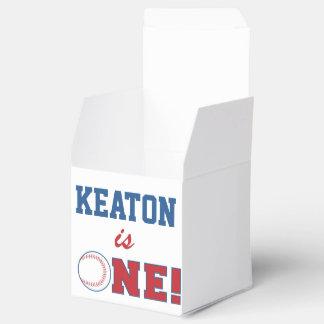 Baseball First Birthday Favor Box