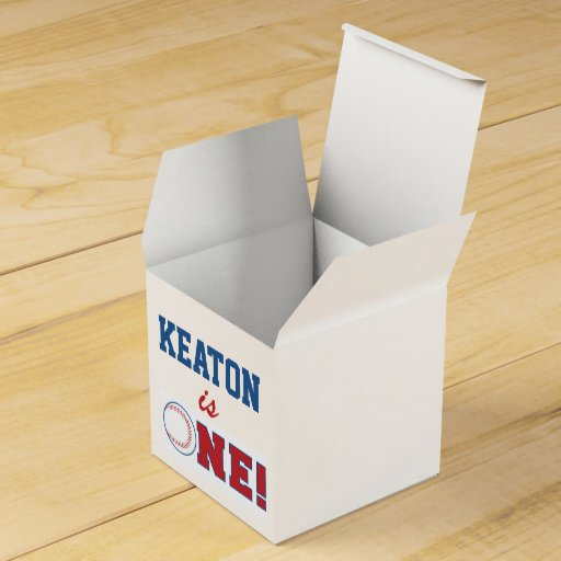Baseball First Birthday Favor Box Party Favor Boxes