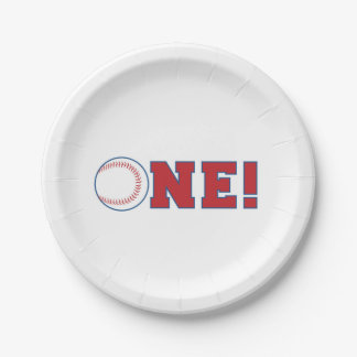 Baseball First Birthday Paper Plates 7 Inch Paper Plate