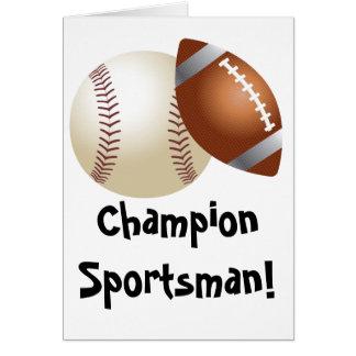 Baseball/Football Fathers Day Card