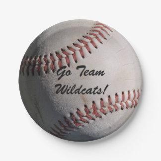 Baseball Game Ball 7 Inch Paper Plate