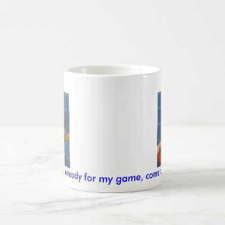 Baseball game, boy,dog basic white mug