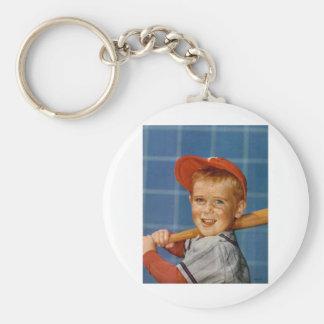 Baseball game, boy,dog keychains
