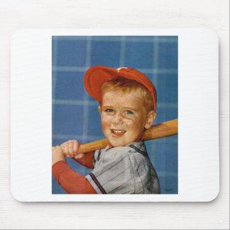 Baseball game, boy,dog mousepads