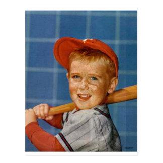 Baseball game, boy,dog postcards