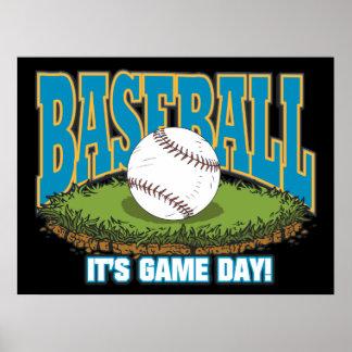 Baseball Game Day Poster