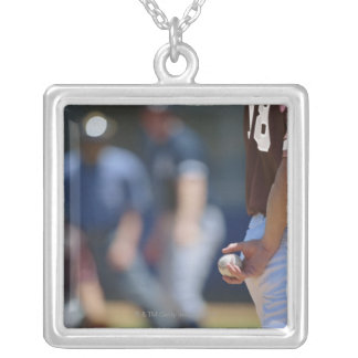 Baseball Game Silver Plated Necklace