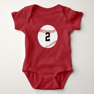 Baseball Gameday Baby Jersey Number Bodysuit