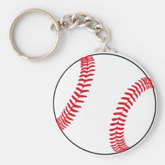 Baseball Gear Basic Round Button Key Ring