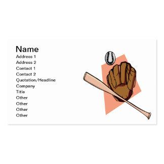 Baseball Gear Business Card Template