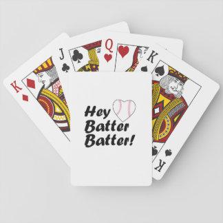 Baseball Gift  Hey batter batter Playing Cards