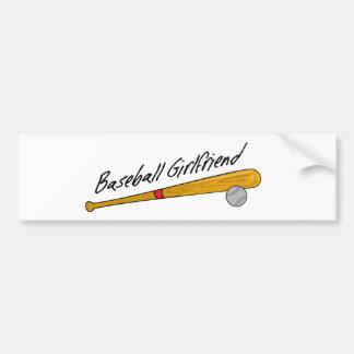 Baseball Girlfriend - Bumper Sticker