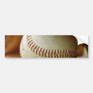 Baseball Glove and Ball Bumper Stickers