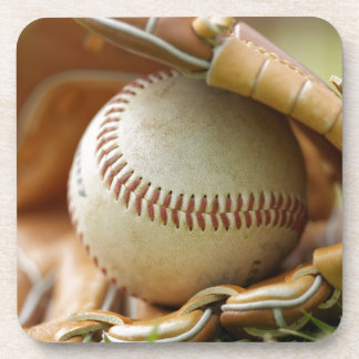 Baseball Glove and Ball Coasters