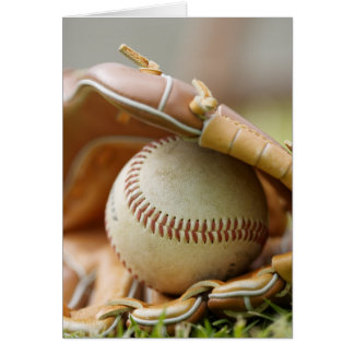 Baseball Glove and Ball Greeting Card