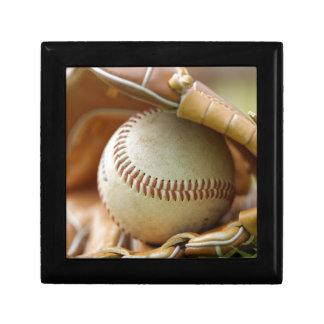 Baseball Glove and Ball Keepsake Boxes