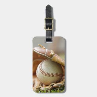 Baseball Glove and Ball Luggage Tag