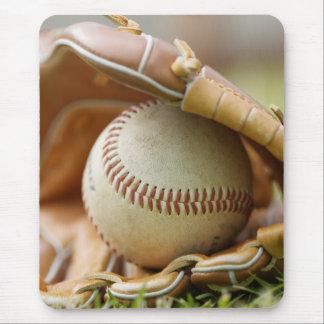 Baseball Glove and Ball Mouse Mat