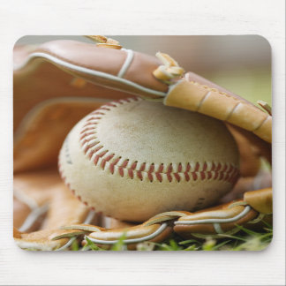 Baseball Glove and Ball Mouse Pads