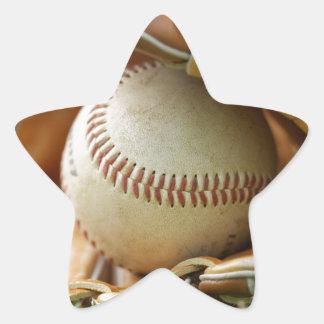 Baseball Glove and Ball Star Sticker