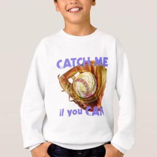 Baseball Glove and Ball Sweatshirt