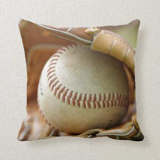 Baseball Glove and Ball Throw Pillow