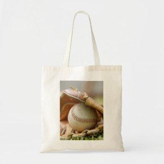 Baseball Glove and Ball Tote Bag
