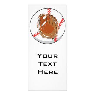 baseball glove and baseball vector design 10 cm x 23 cm rack card