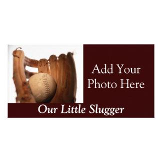 Baseball Glove & Ball Photo Card Template