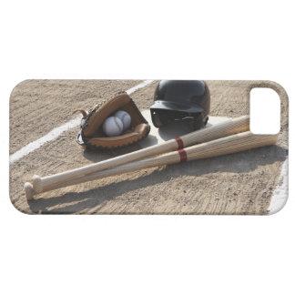 Baseball glove, balls, bats and baseball helmet iPhone 5 cases