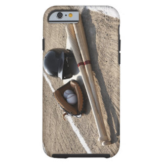 Baseball glove, balls, bats and baseball helmet tough iPhone 6 case
