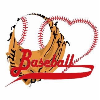 Baseball Glove & Baseball Heart Standing Photo Sculpture