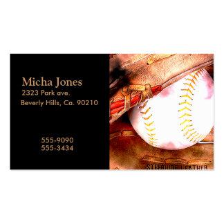 Baseball & Glove Grunge Style Business Card Templates