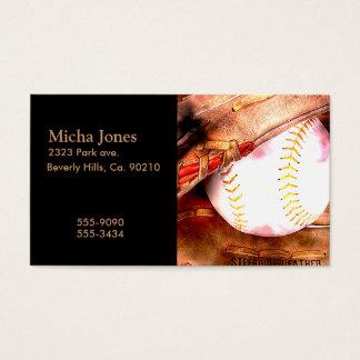 Baseball & Glove Grunge Style Business Card