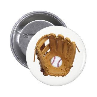 Baseball Glove or Mitt with baseball button