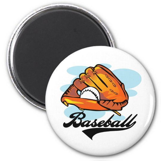 Baseball Glove T-shirts and Gifts 6 Cm Round Magnet