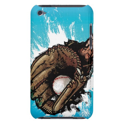 Baseball glove with base ball barely there iPod cases