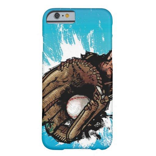 Baseball glove with base ball iPhone 6 case
