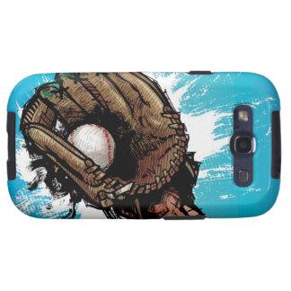 Baseball glove with base ball samsung galaxy s3 cover