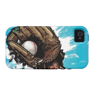 Baseball glove with base ball iPhone 4 cover