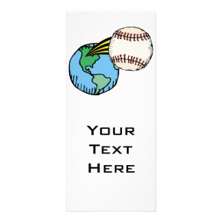 baseball going out of this world customized rack card