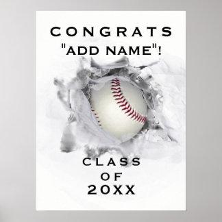 Baseball Graduation Poster