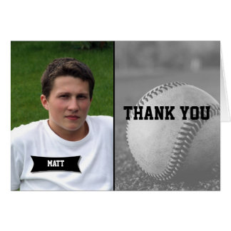 Baseball Graduation Thank You card