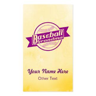 Baseball Grandma Customized Business Cards