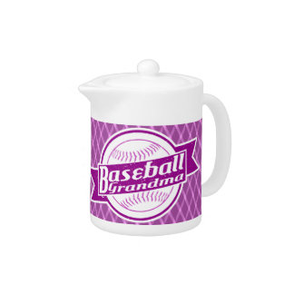 Baseball Grandma Tea Pot