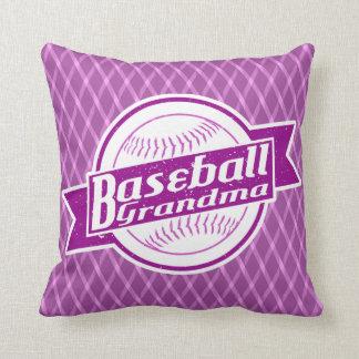 Baseball Grandma Throw Cushion