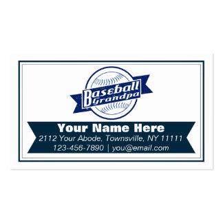 Baseball Grandpa Customizable Business Cards